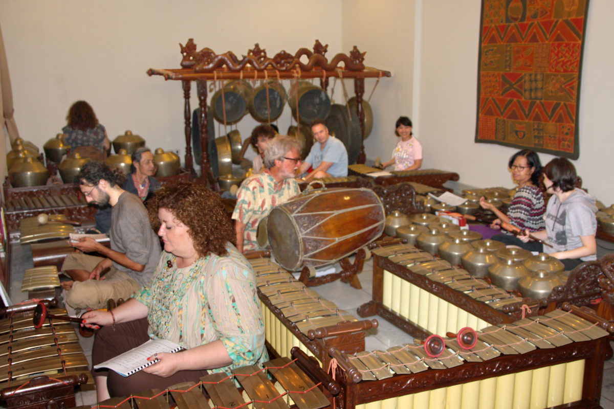 The Gamelan Group: All Nationalities, Ages and Motives Welcome