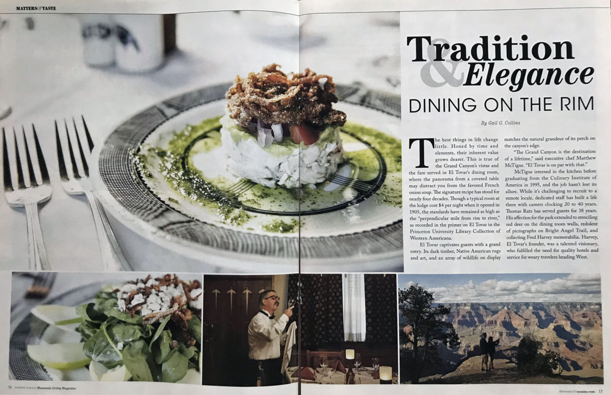 Tradition & Elegance:  Dining on the Rim